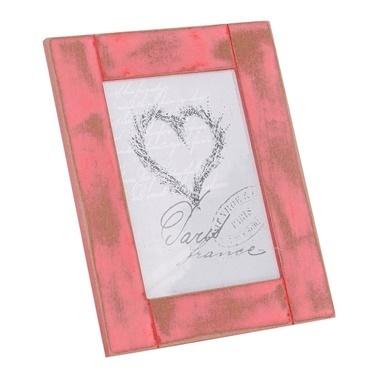 Vitale Eskitme Pastel Ahşap Kırmızı Fotoğraf Çerçevesi Renkli
